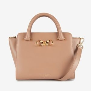 Authentic Ted Baker Hollie Loop Bow Leather Tote